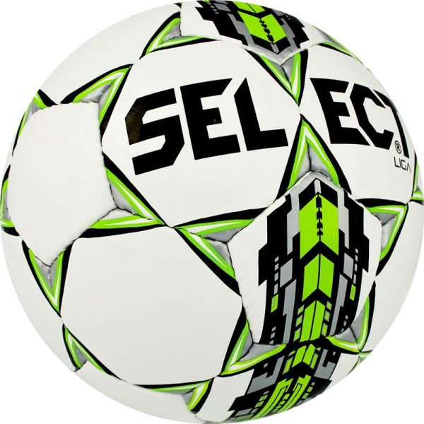 Piłka nożna Select Liga biało/zielona r.5,4