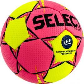 Piłka ręczna Select Solera EHF żółto/różowa r. 1