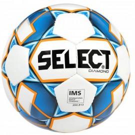 Piłka nożna Diamond 5 IMS 2019 Select (biały/niebieski)