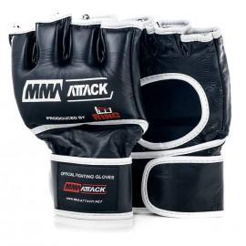 Oficjalne skórzane rękawice MMA ATTACK r. S