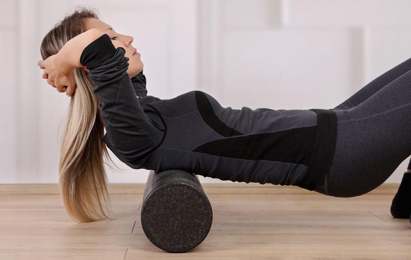 Ćwiczenia kręgoslupa karku roller