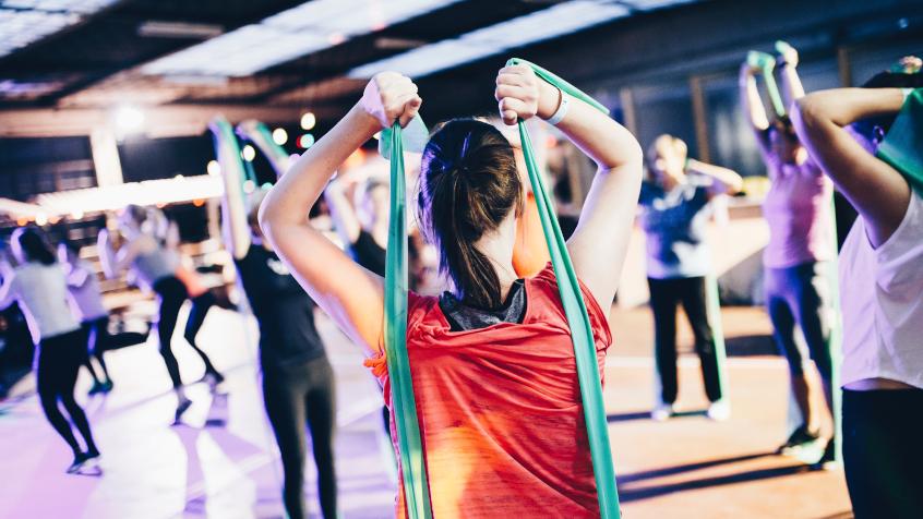 Podział kolorystyczny gum fitness do rozciągania